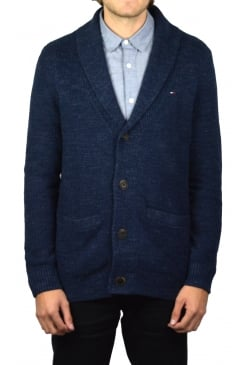 Shawl Collar Cardigan (Black Iris)