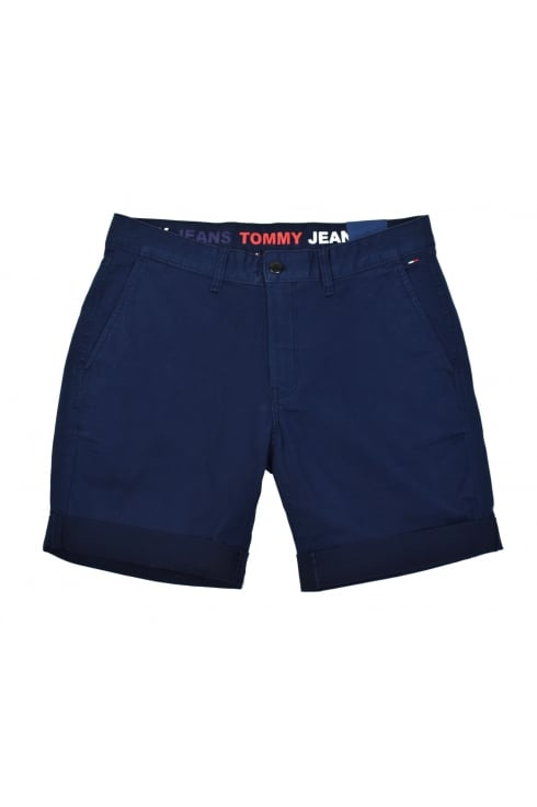 Tommy Jeans Basic Chino Shorts (Black Iris - Navy)