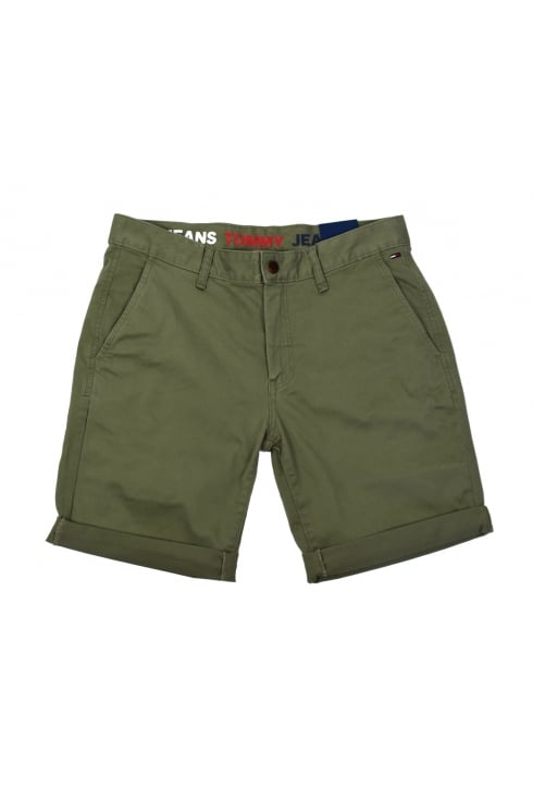 Tommy Jeans Basic Chino Shorts (Deep Lichen)
