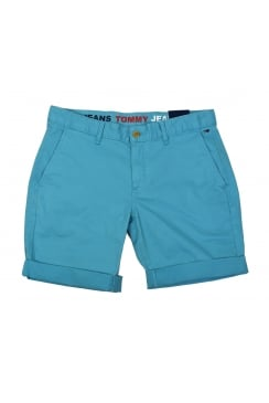 Basic Chino Shorts (Maui Blue)