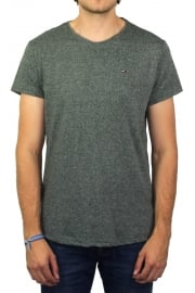 Basic Crew-Neck Short-Sleeved T-Shirt (Forest Night)