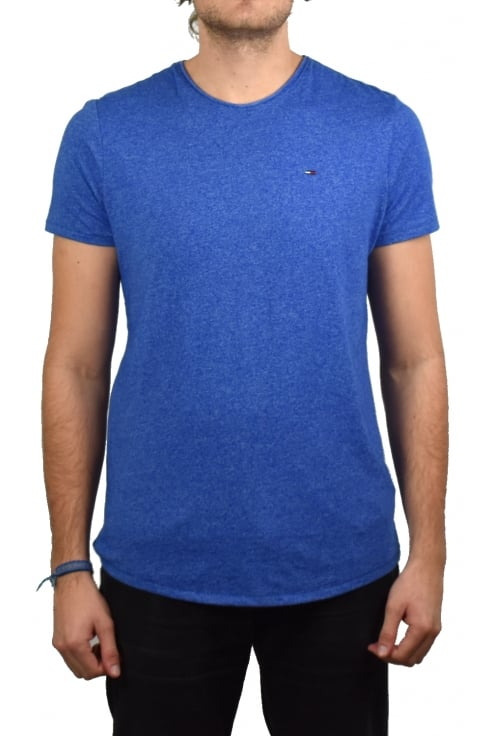 Tommy Jeans Basic Crew-Neck Short-Sleeved T-Shirt (Nautical Blue)