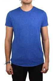 Basic Crew-Neck Short-Sleeved T-Shirt (Nautical Blue)