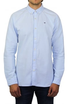 Basic Long-Sleeved Solid Shirt (Light Blue)
