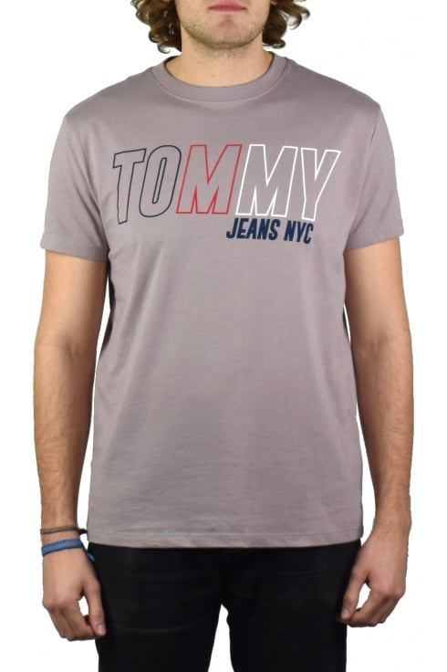Tommy Jeans Block Logo T-Shirt (Violet Ice)