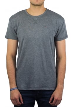 Cotton Rib Knit T-Shirt (Grey)