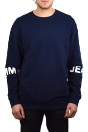 Essential Banded Crew-Neck Sweatshirt (Black Iris)