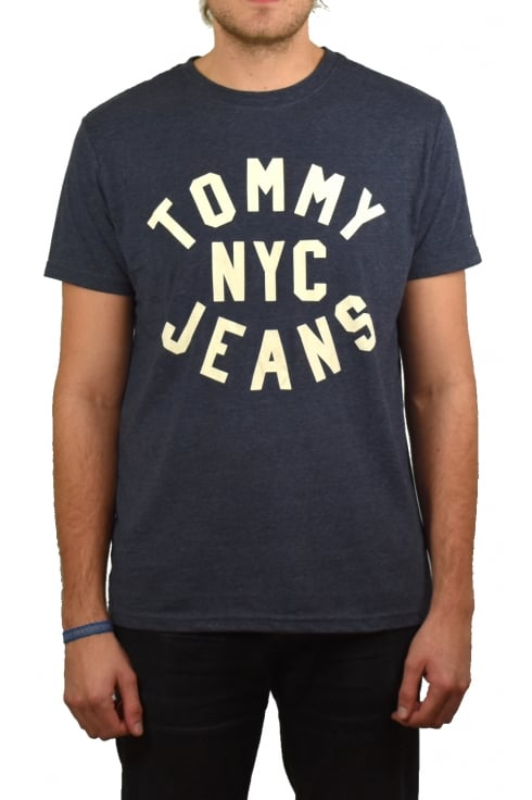 Tommy Jeans Essential Logo T-Shirt (Black Iris)