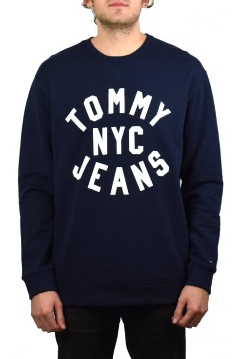 Tommy Jeans Graphic Relaxed Fit Sweatshirt (Black Iris)