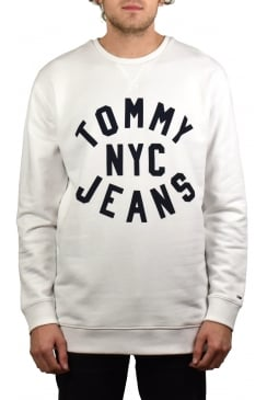 Graphic Relaxed Fit Sweatshirt (Classic White)