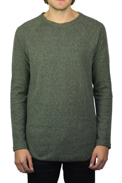 Tommy Jeans Long-Sleeved T-Shirt (Forest Night)