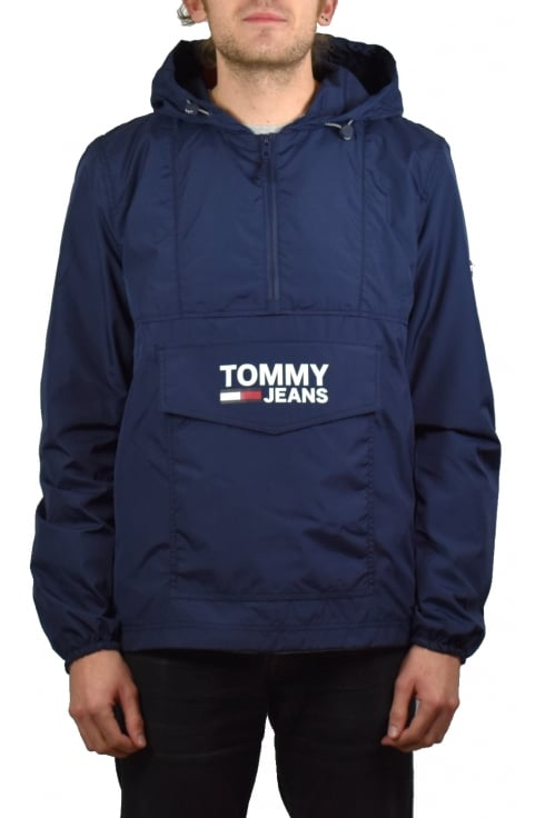 Tommy Jeans Pop Over Anorak (Black Iris)