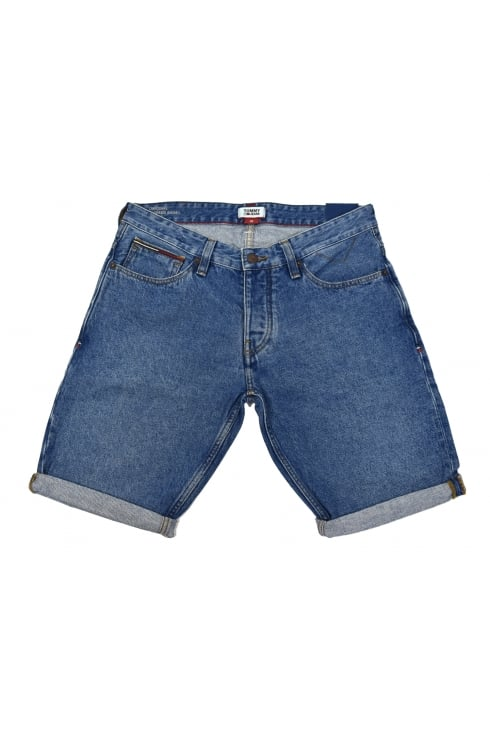 Tommy Jeans Ronnie Denim Shorts (Mid Blue Rigid)