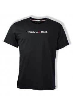 Small Text T-Shirt (Tommy Black)