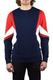 Symmetric Colourblock Sweatshirt (Racing Red/Multicolour)